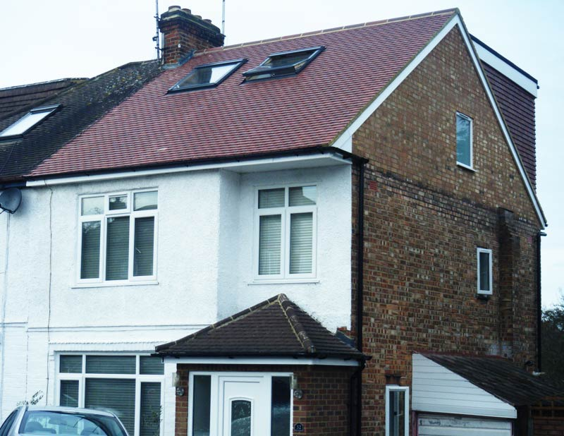 Terraced house loft conversion north west london for Terraced house meaning