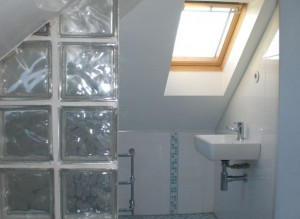 An ensuite shower room for loft conversion